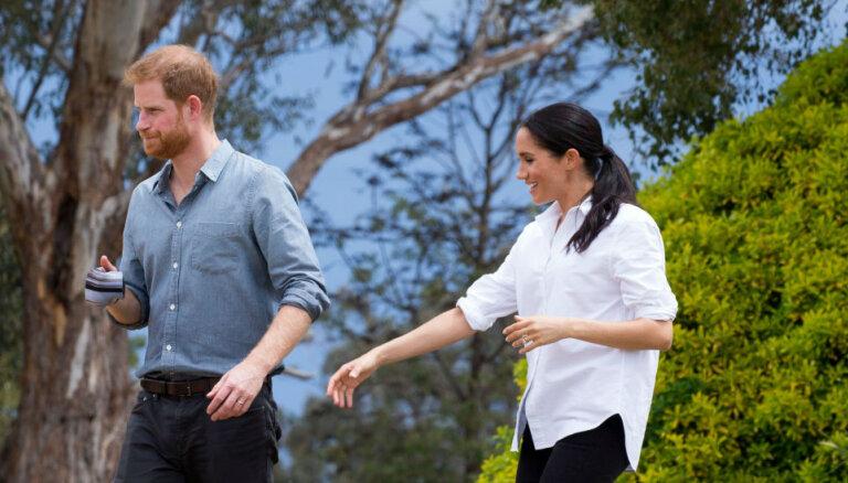 Foto: Saseksas hercogiene Megana gaidībās apbur vizītē Austrālijā