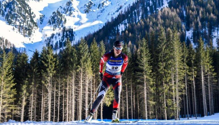Latvijas biatlonisti tiek apdzīti par apli un paliek 21.vietā Eiropas čempionāta jauktajā stafetē