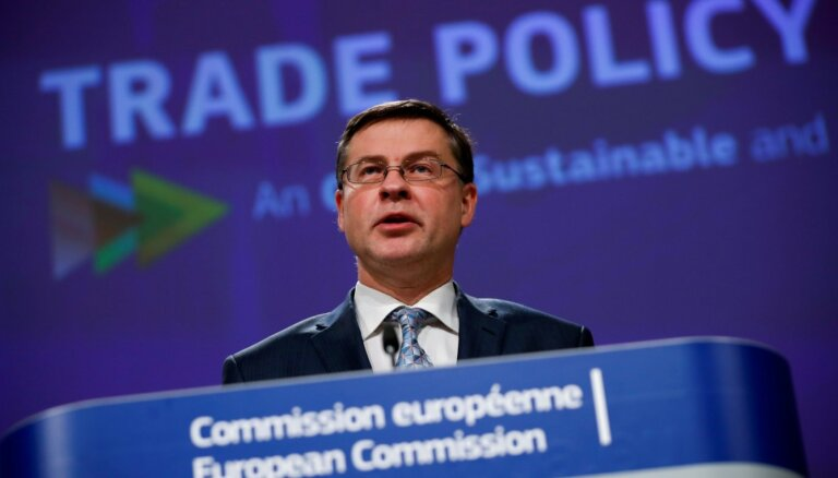 Dombrovskis: ASV jāpauž konkrēta apņemšanās izbeigt tirdzniecības strīdus ar ES