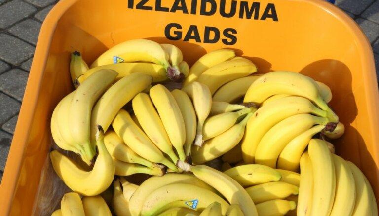 Foto: Filmas 'Izlaiduma gads' veidotāji Vērmanes dārzā sarīko 'BanānuPoPu'