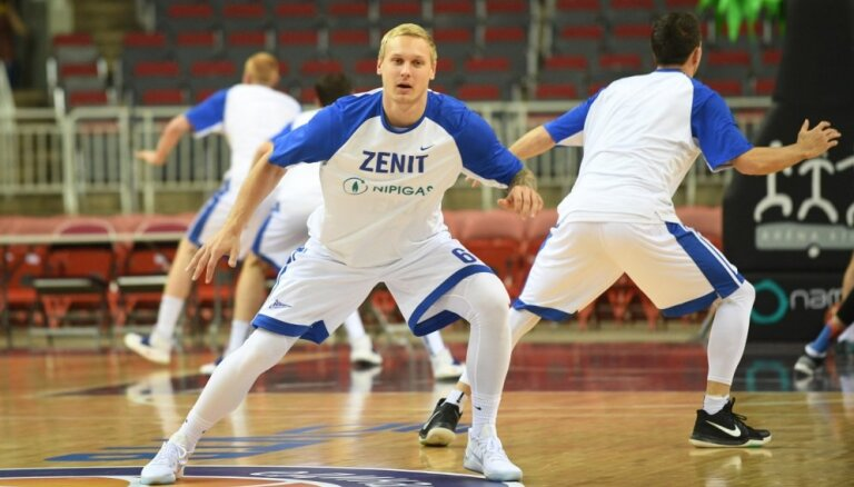Timma ar 13 punktiem sekmē 'Zeņit' basketbolistu kārtējo uzvaru Vienotās līgas spēlē