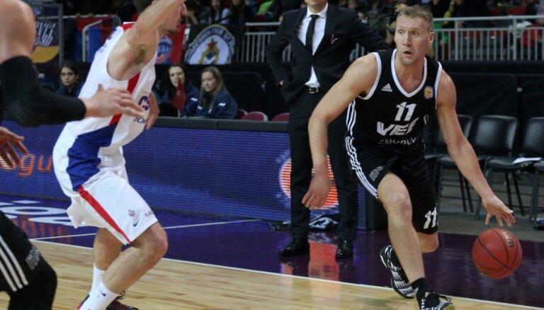 'VEF Rīga' līdzvērtīgā cīņā atzīst Maskavas CSKA pārākumu
