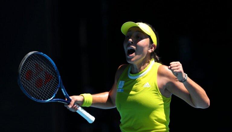 'Australian Open' ceturtdaļfinālu sasniedz NHL un NFL klubu īpašnieku meita Pegula