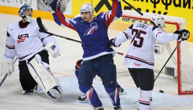 Francijas hokeja izlase cer apspēlēt Latviju taktiskajā un psiholoģiskajā ziņā