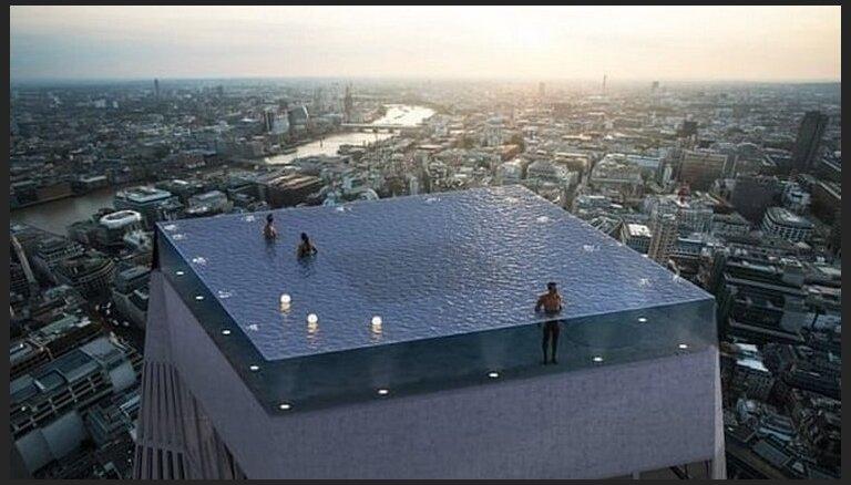 ФОТО. Впервые в мире крыша небоскреба станет бассейном с обзором на З60 градусов