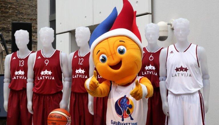 Pārdošanā nonāks stāvvietu biļešu komplekti uz Latvijas basketbola izlases spēlēm Eiropas čempionātā
