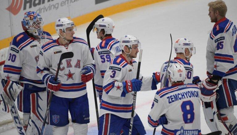 Rietumu konferences līderu duelī SKA sagrauj Jaroslavļas 'Lokomotiv'