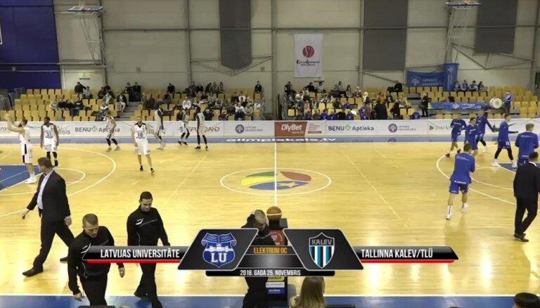 'OlyBet' Basketbola līga: LU - Tallinas 'Kalev/TLU'. Spēles labākie momenti (25.11.2018.)