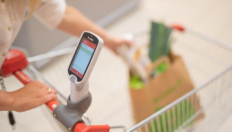 ФОТО: Rimi вводит первые в Латвии сканеры самообслуживания