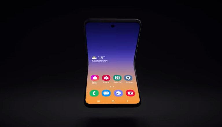ВИДЕО: Samsung представил концепт нового складного смартфона