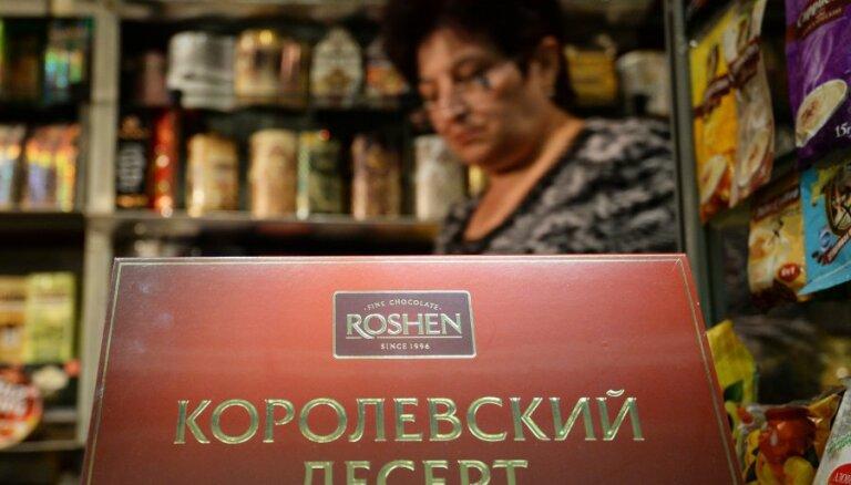 Krievija no ukraiņu saldumu milža 'Roshen' vēlas piedzīt 70 miljonus dolāru