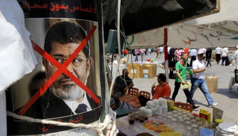 Ēģiptē sāksies tiesas prāva pret gāzto prezidentu Muhamedu Mursi
