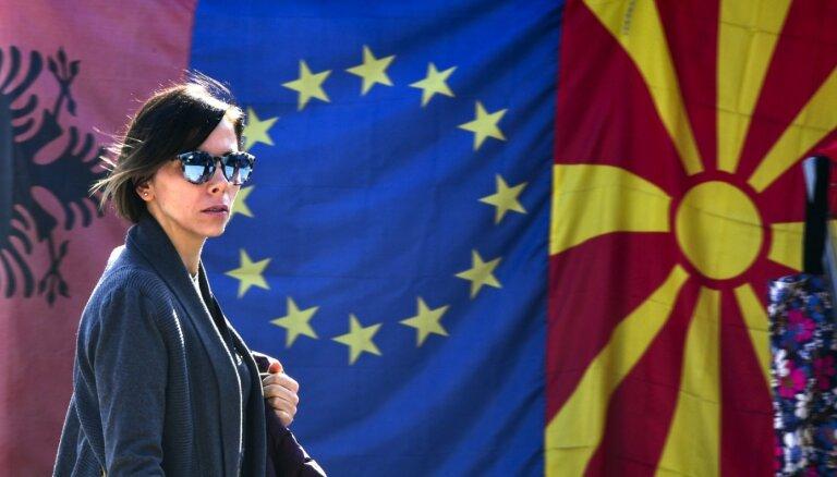 ES ministri apstiprinājuši iestāšanās sarunu sākšanu ar Albāniju un Ziemeļmaķedoniju