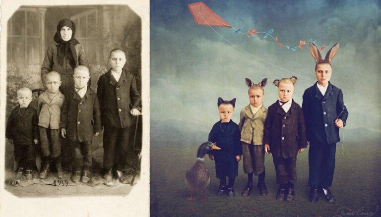 Foto: Mākslas projekts, kurā pagātne satiekas ar tagadni