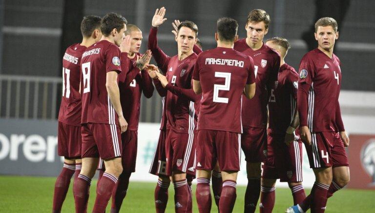 Latvijas futbolisti 'Euro 2020' kvalifikāciju noslēdz ar negaidītu uzvaru pār Austriju