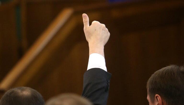 Saeimas opozīcija rosina Valsts prezidenta vēlēšanas rīkot nedēļu vēlāk