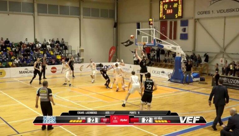 'OlyBet' basketbola līga: 'Ogre' - 'VEF Rīga'. Spēles labākie momenti