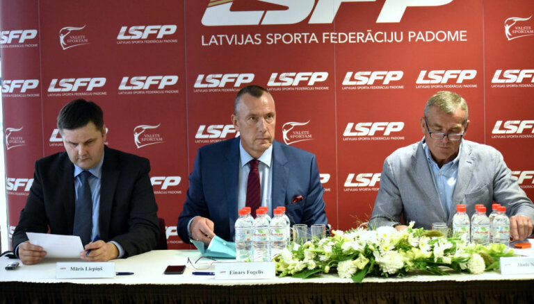 Ārkārtas sēde Latvijas Sporta federācijas padomē: ievēlēti pieci valdes locekļi