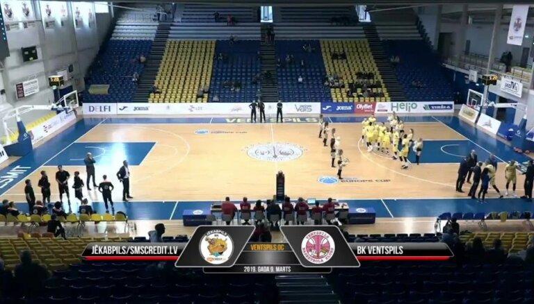 'OlyBet' basketbola liga: 'Jēkabpils/SMScredit.lv' - 'Ventspils'. Spēles labākie momenti
