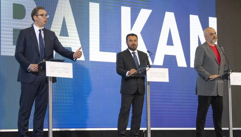 Serbijas, Ziemeļmaķedonijas un Albānijas līderi vienojas par 'Atvērto Balkānu' iniciatīvu