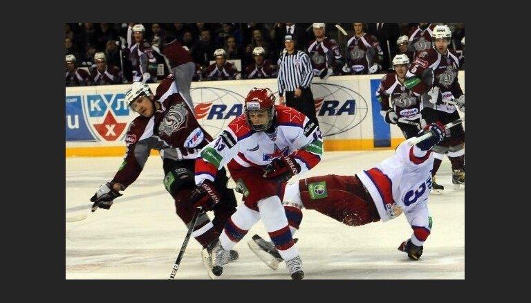 Rīgas 'Dinamo' nespēj pieveikt CSKA