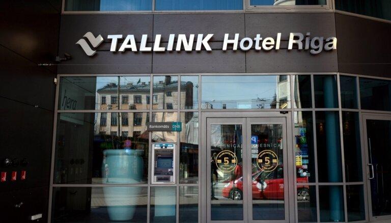 Vēlreiz uz laiku pārtrauc viesnīcas 'Tallink Hotel Riga' darbību