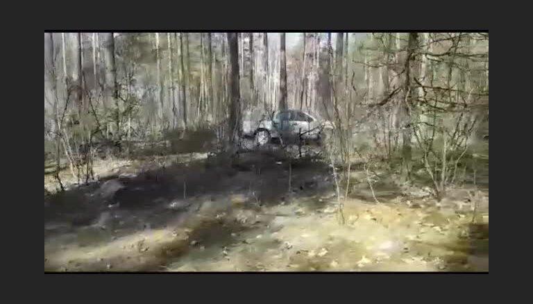 Video no privātas teritorijas Ādažos, kur kļūmes dēļ sprāga prettanku lādiņš