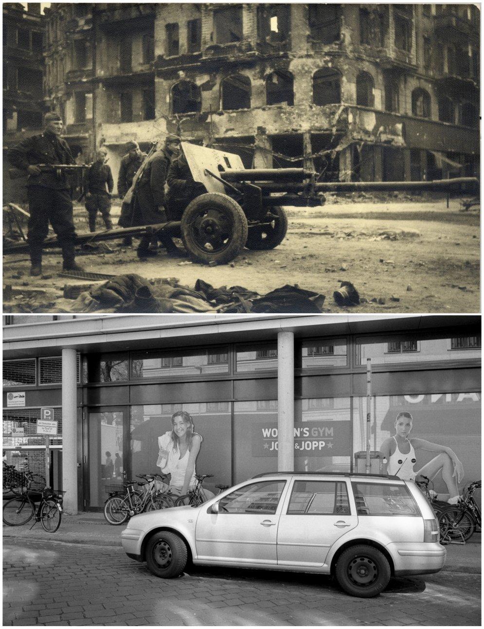 Битва за Берлин: 14 ФОТО улиц столицы Германии в мае 1945-го — и сегодня