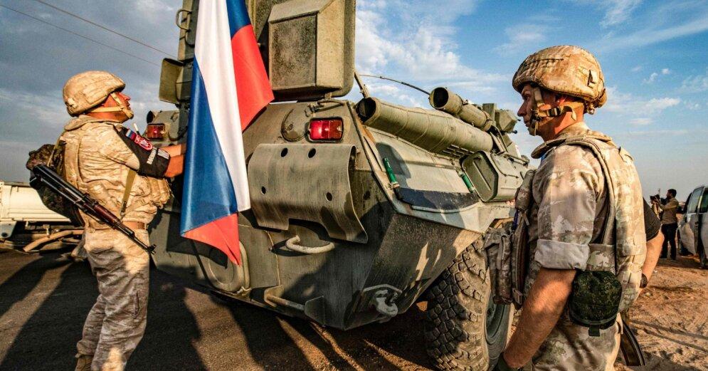 Россия перебросила военную технику к границе Сирии и Турции