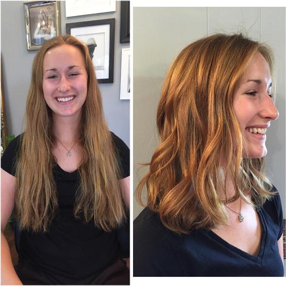 Фото сравнение длинных волос и коротких