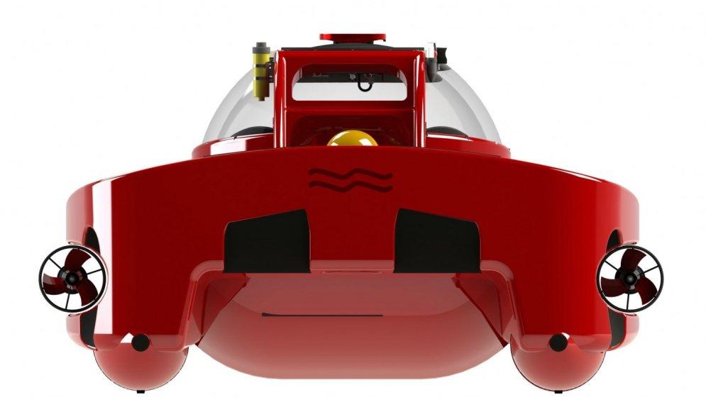 Mini zemūdene Džeimsa Bonda stilā, kas izskatās kā 'Ferrari'