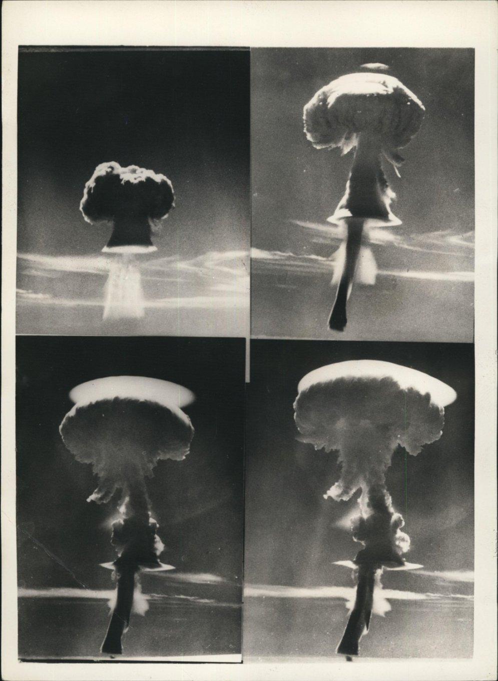 Arhīva foto: Retro atombumbu izmēģinājumi piecdesmitajos gados
